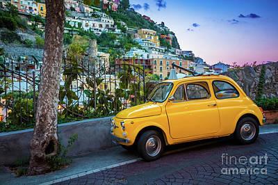 Photograph - Positano Fiat by Inge Johnsson