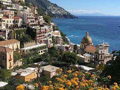 Through The Viewfinder - Positano in bloom by Csilla Florida