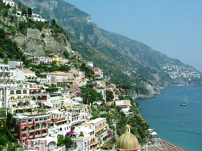 Photograph - Positano In The Afternoon by Donna Corless