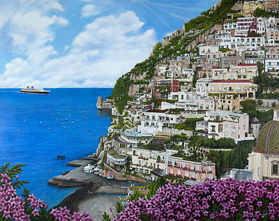 Painting - Positano Italy by Cindy D Chinn