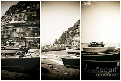 Photograph - Positano Panels by John Rizzuto