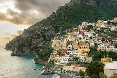 Positano Sunset Art Print