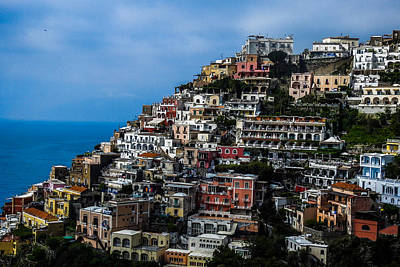 Photograph - Positano's Terraced Landscape by Marilyn Burton