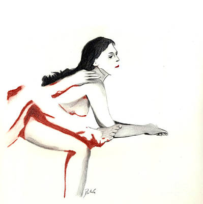 Drawing - Position #229 by Denise Deiloh