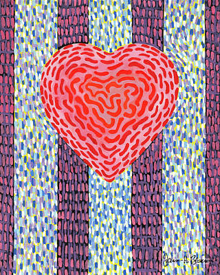 Painting - Positive Energy Squiggle Heart by James Homer Brown