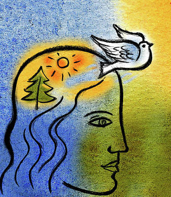 Positive Outlook Art Print by Leon Zernitsky