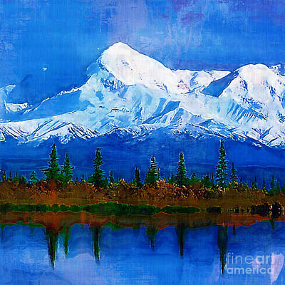 Abstact Landscapes Painting - Positive Thought. by M Cameron