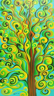 Positronic Spirit Tree Art Print