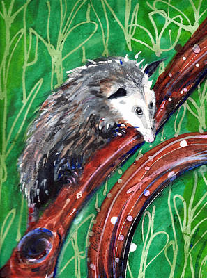Painting - Possum by Kimbo