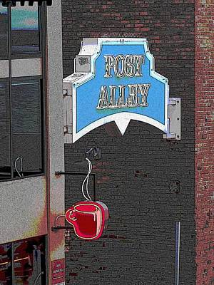 Farmers Market Digital Art - Post Alley 3 by Tim Allen