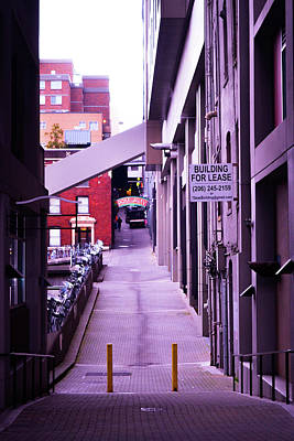 Photograph - Post Alley, Seattle by D Justin Johns