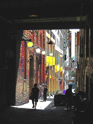 Post Alley Art Print by Tim Allen