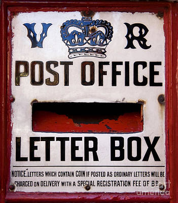 Mail Box Photograph - Post Box by Jane Rix