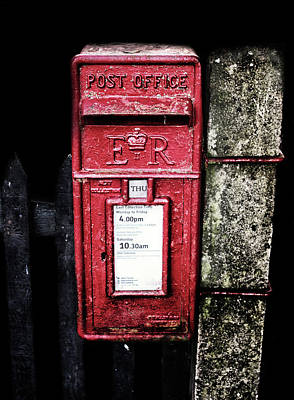 Post Box Print by Martin Newman
