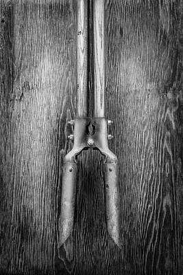 Photograph - Post Hole Digger II On Plywood 73 In Bw by YoPedro