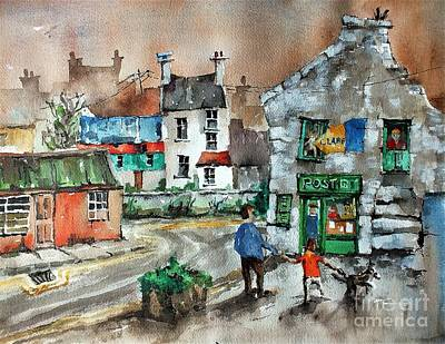Painting - Post Office Mural In Ennistymon Clare by Val Byrne
