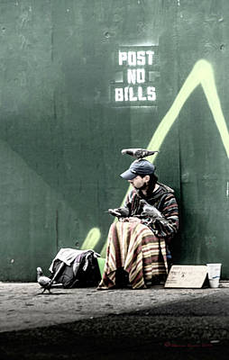 Homeless Photograph - Post No Bills by Marvin Spates