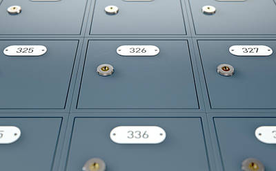 Post Office Boxes Art Print
