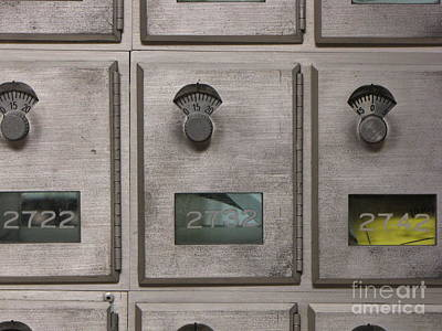 James Madison University Photograph - Post Office Boxes by Ben Schumin