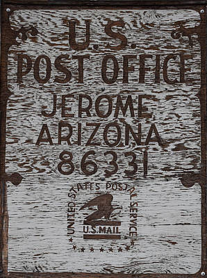 Photograph - Post Office Jerome - Arizona by Dany Lison