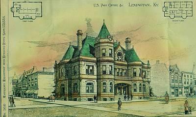 Kentucky Painting - Post Office Lexington Kentucky 1886 by Robert Arkinson