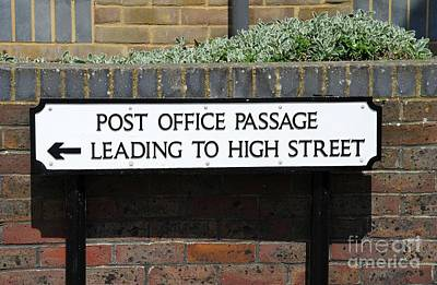 Photograph - Post Office Passage In Hastings by David Fowler