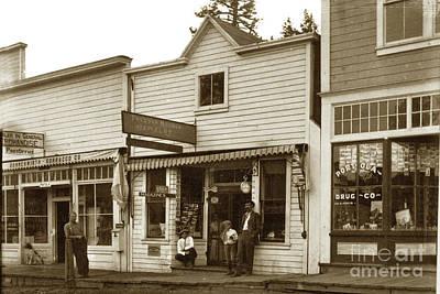 Photograph - Post Office, Portola, Plumas County, Calif Circa 1915 by California Views Archives Mr Pat Hathaway Archives