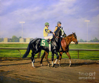 Post Parade Print by Jeanne Newton Schoborg