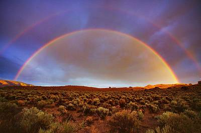 Photograph - Post Tstorm Rainbow by SB Sullivan