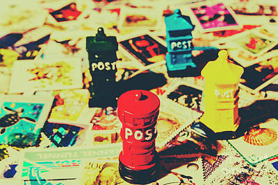 Postage Pop Art Art Print