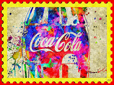 Mixed Media - Postage Stamp Cola by Daniel Janda