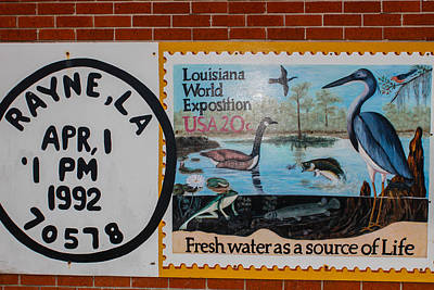 Photograph - Postal Mural by Robert Hebert