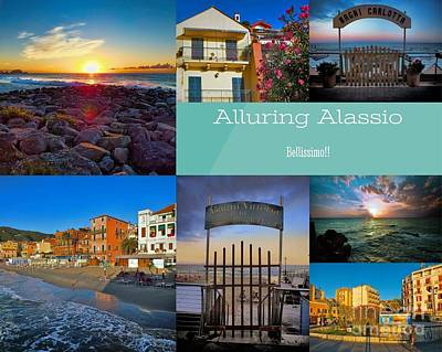 Photograph - Postcard From Alassio by Karen Lewis