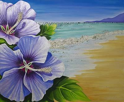 Painting - Postcard From Hawaii by Claire Johnson