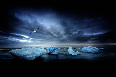 Photograph - Postcard From Jokulsarlon by Philippe Sainte-Laudy