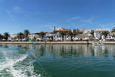 Photograph - Postcard From Lagos Portugal - Colorful Wake At The Waterfront by Georgia Mizuleva