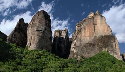 Photograph - Postcard From Meteora I by Jaroslaw Blaminsky
