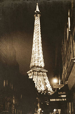 Black And White Art Photograph - Postcard From Paris- Art By Linda Woods by Linda Woods