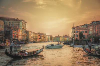 Canal Photograph - Postcard From Venice by Chris Fletcher