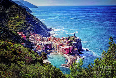 Photograph - Postcard From Vernazza by Scott Kemper