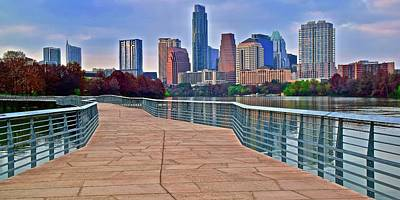 Photograph - Postcard Perfect Austin Texas by Frozen in Time Fine Art Photography