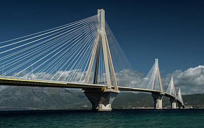 Photograph - Postcard With Rio-andirio Bridge  by Jaroslaw Blaminsky