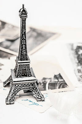 Words Background Photograph - Postcards And Letters From Paris by Jorgo Photography - Wall Art Gallery