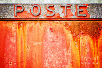 Photograph - Poste Italian Weathered Mailbox by Silvia Ganora