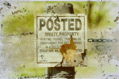 Keep Out Digital Art - Posted Keep Out Sign by KJ DePace