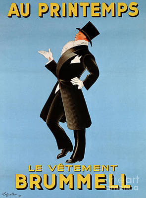 Dapper Wall Art - Drawing - Poster Advertising 'brummel' Clothing For Men At Printemps Department Store, 1936  by Leonetto Cappiello