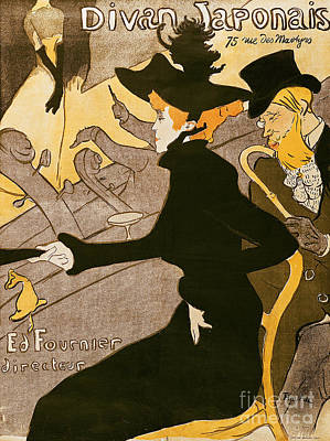 Stylish Painting - Poster Advertising Le Divan Japonais by Henri de Toulouse Lautrec