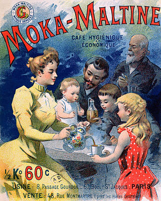 Poster Advertising Moka Maltine Coffee Art Print