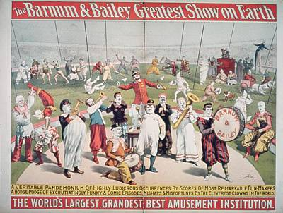 Poster Advertising The Barnum And Bailey Greatest Show On Earth Art Print by American School