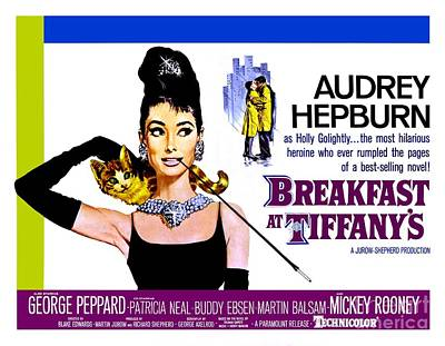 Actors Photos - Poster For Breakfast At Tiffanys by The Titanic Project